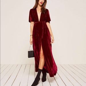 Reformation BRAND NEW Miller Dress in Crimson